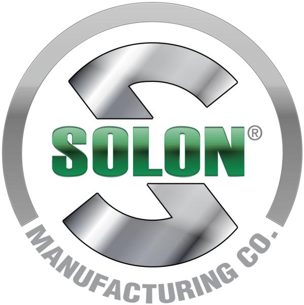 Solon's Logo, a silver S, with the words